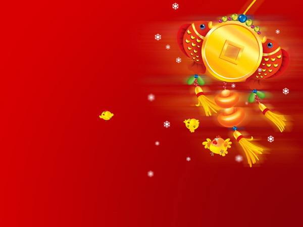 红色喜庆春节ppt模板下载
