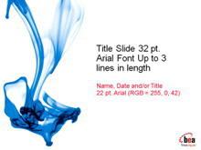 蓝色化学液体PPT模板下载