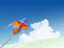 蓝天白云自然风光PPT模板