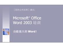 简洁的Word2003培训PPT模板