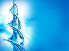 蓝色DNA背景医学PPT模板下载