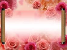 红玫瑰背景爱情m88.com模板