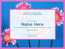 粉色花朵植物PPT模板下载
