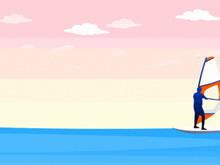 卡通风格帆船PPT模板下载
