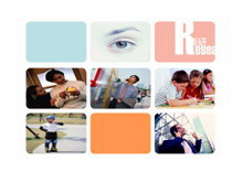 杂志封面教育类PPT背景模板