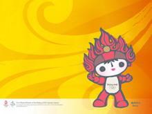 福娃背景奥运会PPT背景模板