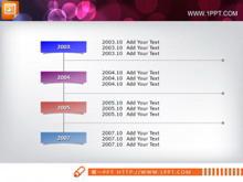 时间轴PPT流程图素材