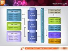 立体结构PPT柱形图