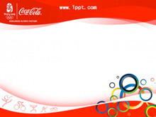 可口可乐奥运主题PPT模板下载