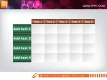 简洁实用的PPT表格素材