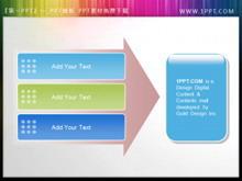 箭头背景PPT文本框素材