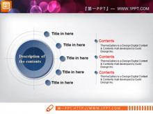 靶心关系说明图PPT图表素材