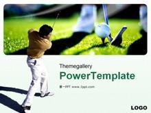 高尔夫运动体育PPT模板