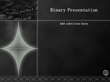 黑色数学公式PPT模板下载