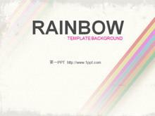 艺术彩虹PPT模板下载