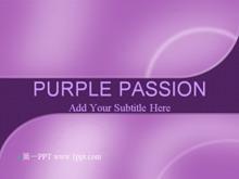 经典的紫色弧线PPT模板下载