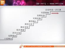 小组项目流程图PPT模板