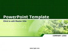 经典绿色植物PPT模板下载