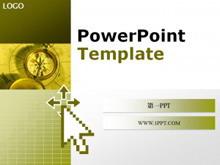 古典风格指南针背景PPT模板下载