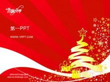 抽象艺术圣诞节PPT模板下载