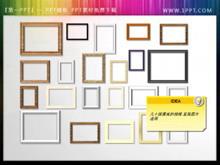 几十组漂亮的相框PPT呈现图片素材
