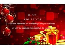 优秀的动态礼盒圣诞节PPT模板下载