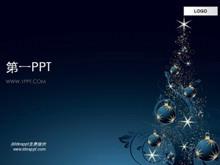 暗色调圣诞节PPT模板