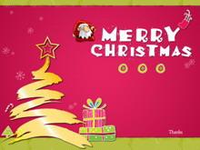 动态卡通背景圣诞节PPT模板