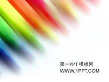 彩色条纹背景艺术设计PPT模板