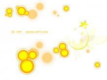 简洁卡通圆圈动画艺术PPT背景模板