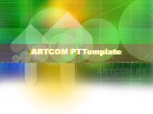 动态抽象数字科技PPT背景模板
