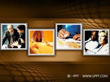 褐色商务PPT背景图片下载
