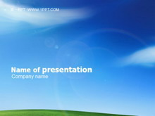 XP桌面风格的自然风光PPT模板下载