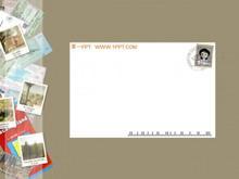 卡通明信片PPT模板下载
