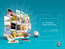 精美照片墙背景商务PPT中国嘻哈tt娱乐平台
