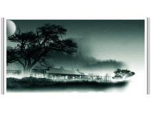 水墨画背景中国风PPT模板下载