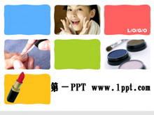 彩色时尚美容PPT模板下载