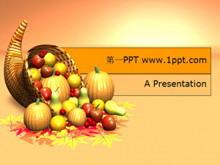 卡通水果蔬菜PPT模板下载