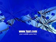 蓝色科技方块PPT模板下载