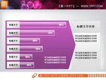 紫色大气幻灯片条状统计图