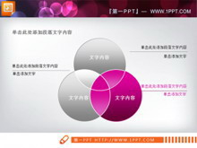 三圆相交关系PPT图表素材