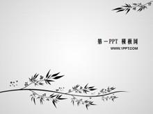 古典花纹背景PPT模板下载