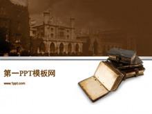 棕色古典风格PPT模板下载
