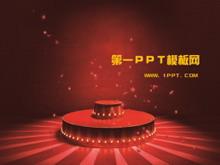 红色喜庆的节日庆典PPT模板