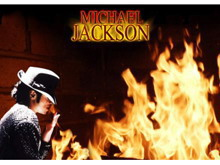 烈火背景杰克逊PPT模板下载