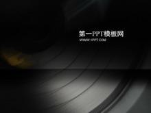 个性唱片背景音乐课件PPT模板下载