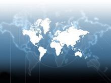 经典世界地图背景商务PPT模板