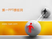 经典桌球小人背景商务PPT中国嘻哈tt娱乐平台tt娱乐官网平台