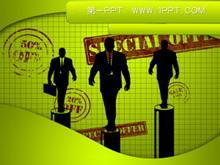 商务人士背景PPT模板下载