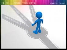 路口的3d小人图片PPT素材下载